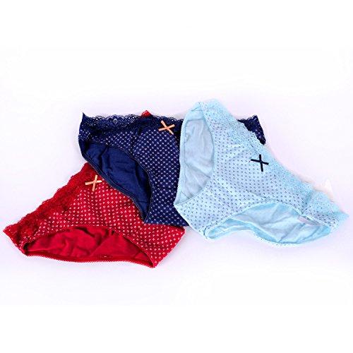 6er Pack Libella Damen Slips 3903 Baumwolle Unterhosen Mehrfarbig