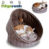 Fitgorush Katzenbett Haustierbett und Sofa Katzenhöhle inkl. Kissen waschbar Kuschelhöhle