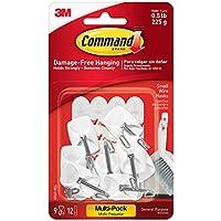 Command 17067-9ES - Ganchos para ustensilios de cocina con tiras adhesivas de comando, Blanco