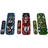 PERPETUAL BLISS Fancy Car Shape Metal Pencil Box For Kids Midium Size,Return Gift For Kids Birthday Party (Pack Of 3)