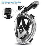 Orsen Full Face Snorkel Mask, Panoramic View Snorkeling Mask with Adjustable Head Straps