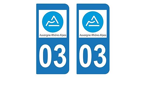 Bearn 26 Dr/ôme Aufkleber f/ür Nummernschild Hintergrundfarbe: Wei/ß Departement Auvergne-Rh/ône-Alpes Logo 3 Ecken: rechts selbstklebend