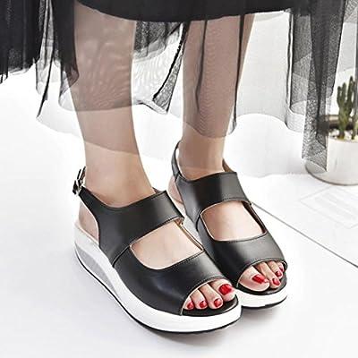 Sandalen Damen Sommer LUCKYCAT Dicker Sohle hoher Absatz der Frauen Sportschuhe Freizeitschuhe Turnschuhe Sneakers Schaukel Damenschuhe Sandalen Schuhe