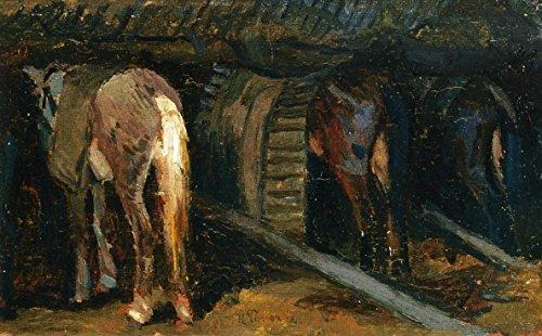 odsanart-16-x-254-cm-animali-cavalli-in-un-stabile-by-ruggero-panerai-alta-qualita-su-tela