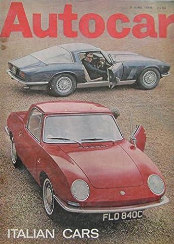 Autocar magazine 3/6/1966 featuring Fiat 850 Coupe & Bertone Spider
