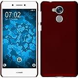PhoneNatic Custodia Rigida Compatibile con Huawei Nova Smart (Honor 6c) - gommata Rosso - Cover Cover