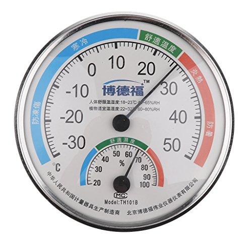 MagiDeal Innen Außen Temperatur Hygrometer Feuchtigkeitsthermometer Luftfeuchtigkeit Messgerät Meter Th-101b