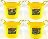 7 Litre Mini Gummi Flexi Tub Korb Aufbewahrungsbehälter Gartenarbeit DIY Haushalt Gelb