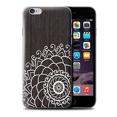 Stuff4 Hülle / Case für Apple iPhone 7 Plus / Ahornholz Muster / Fein Spitzenborte Holz Kollektion Henna