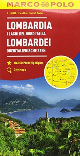 Lombardia, laghi del nord italia 2 1:200.000 (Carte stradali Marco Polo)