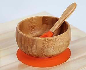 kenley bambou bol ventouse b b enfant vaisselle set repas assiette avec cuill re et bavoir. Black Bedroom Furniture Sets. Home Design Ideas