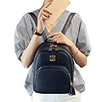 FOReverweihuajz Fahion Women Crocodile Pattern Embossed Tassel Zipper Small Tote Shoulder Bag Cute Backpack Girls Ladies