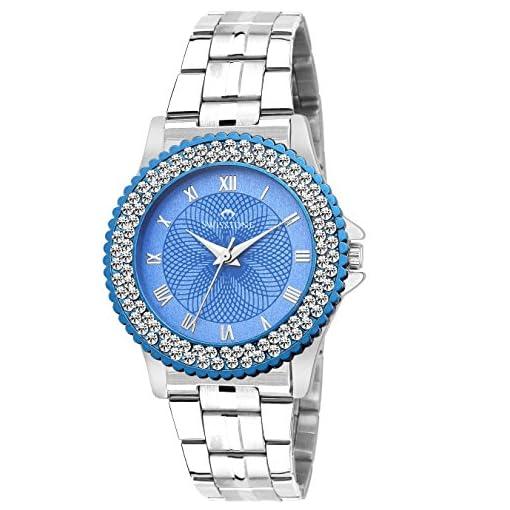51e5oQBiYbL. SS510  - Vg515Bu Blu Ch Swisstone Women GirlS watch