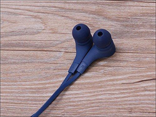 Suppression du bruit écouteurs intra-auriculaires sport bleu marine avec écouteurs écouteurs Mains libres écouteurs intra-auriculaires 3,5mm W/appel mains libres Mic. Compatible avec
