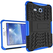 Galaxy Tab 3 Lite 7'' Funda,Samsung Tab3 Lite 7.0 Protección,XITODA Armor Style Hybrid PC + TPU silicone Funda con stand Protección para Samsung Galaxy Tab 3 Lite 7.0 pulgadas SM-T110/T111/T113/T116 Cover Case Carcasa - Azul oscuro