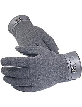 RETUROM nueva moda de invierno de los hombres llenos del dedo del tacto del smartphone guantes de la pantalla...