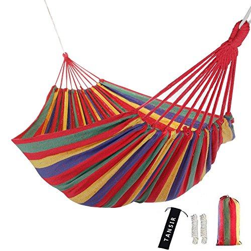 Doppel-brieftasche (Hammock Outdoor Doppel Hängematte für Camping, Trekking, Strand, 280 x 150 cm, Belastbarkeit bis 300 kg,mit Sack für Handys und Brieftaschen(Rot))