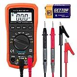 Crenova MS8233D, Multimetro digitale, per il range dell'auto AC, tester di tensione, misurazione della tensione, corrente, resistenza, tester portatile, con retroilluminazione