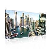 Stadt Dubai Skyline Leinwand Bilder (PP1506O1FW) - Wallsticker Warehouse - Size O1 - 100cm x 75cm - 230g/m2 Canvas - 1 Piece