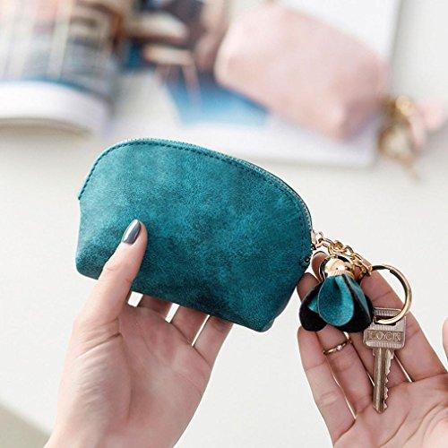 Amlaiworld Borsetta in pelle donna piccolo mini portafoglio (beige) verde
