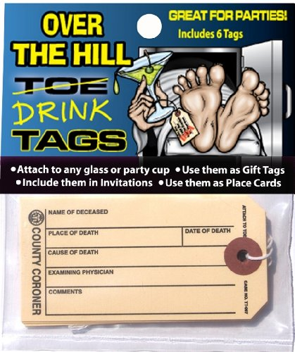 Hollywood Effects Over The Hill Zehen/Drink Tags (Store Hollywood In Halloween)