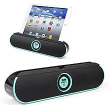 SAVFY Altavoz Portátil Bluetooth 4.0 Dobles Altavoces Estéreo Bluetooth 5W , Puerto AUX de 3,5 mm para iPad, iPhone Tabletas,Smartphone,Teléfonos (Azul menta)