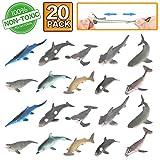 Figure Jouet requin, 20 Jouets de Bain en Caoutchouc, Caoutchouc ...