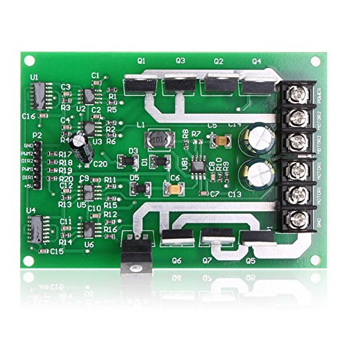 MagiDeal Dual Motor Driver Modul Board H-Brücke DC MOSFET IRF3205 3-36V Peak30A - 15a (Dc-servo-motor)