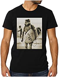 OM3 - STORMTROOPER SURFING - Slim Fit T-shirt Hommes (équipée!!!) DARTH VADER GEEK