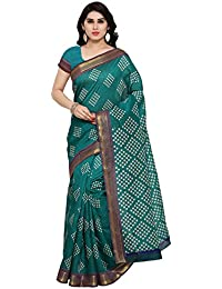 Samskruti Sarees Women's Cotton Silk Saree With Blouse Piece (Syuvef000338_Multi-Coloured)