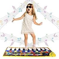 Swonuk 19 Keys Piano Mat Keyboard Dance Mats Music Carpet Playmat for Baby Toddler 110 * 36cm