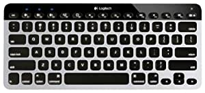 Logitech Easy Switch - mobile device keyboards (Bluetooth, USB, Black, Silver)