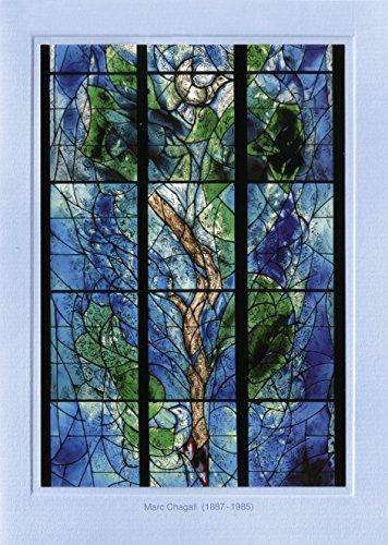 Artoz Kunstkarte Chagall: Baum des Lebens, Format B6, ein Set besteht aus Einlegeblatt, Kuvert und Karte - verpackt zu 3 Sets - Preis für 3 Sets (Applizierte Spitze)