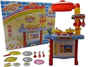 Allkindathings - Juego de Horno de Cocina Infantil con Sonidos y Accesorios