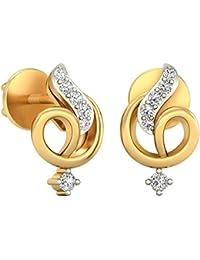 PC Jeweller The Noa 18KT Yellow Gold & Diamond Earring