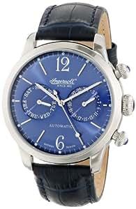 Ingersoll Herren-Armbanduhr Analog Leder blau IN8009BL