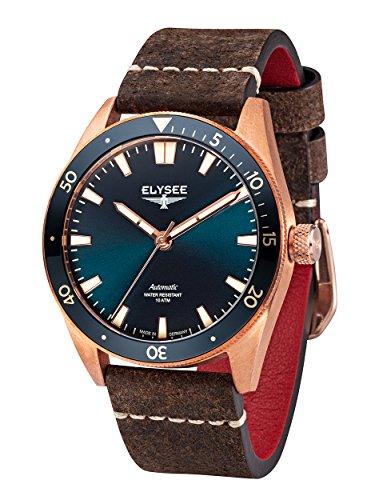 Elysee Bronze Herren Armbanduhr 98013 Sonnenschliff Automatik