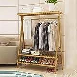 Garderobenständer Duo Festes Holz-Kleiderständer-Kleiderständer Boden-Aufhänger Raumeinsparung für Wohnzimmerhalle Kleiderständer (Farbe : 2tiers, größe : 110cm)