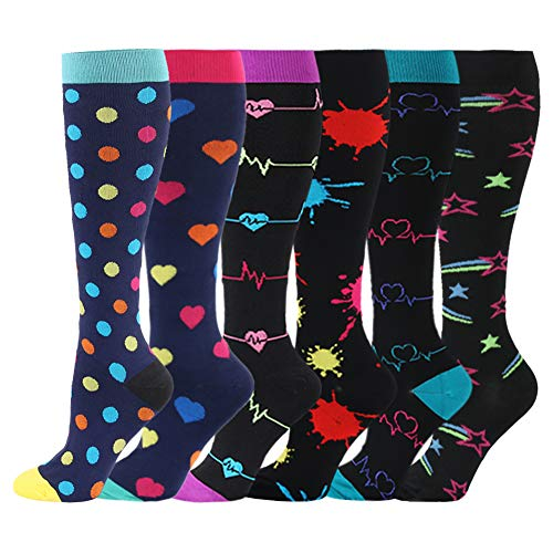Kompressionsstrümpfe für Frauen & Männer 20-30 mmHg- Kompression Socken für Laufen, Crossfit, Reisen, Krankenschwester, Mutterschaft, Schwangerschaft
