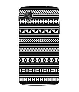 LG Nexus 5, LG Google Nexus 5, Google Nexus 5 Back Cover Multi Colour Tribal Pattern Design From FUSON