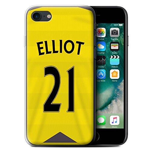 Officiel Newcastle United FC Coque / Etui Gel TPU pour Apple iPhone 7 / Shelvey Design / NUFC Maillot Domicile 15/16 Collection Elliot
