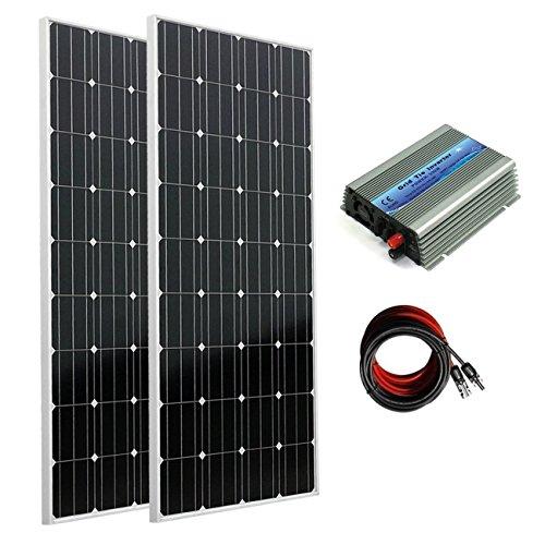 ECO-300W WORTHY Monocrystalline su griglia-Kit pannello solare Mono, 2 pezzi, 160 W a pannelli solari 300W Power Inverter-Cavo a energia solare