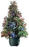 SSITG Großer LED-Weihnachtsbaum mit Glasfaser-Farbwechsler