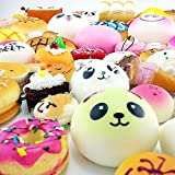 CALISTOUK Lovely Simulation Siwan Donut Bread Using for Phone Straps Random 12pcs