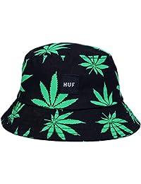 EOZY Unisex Sonnenhut Bucket Hat Fischerhut Cannabis Muster Mütze