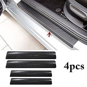 Fusion Graphix 4PCS Car Sticker Universal Anti-Scratch Door Sill Car Decal Car Sticker Decal (Black)
