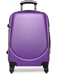 """Kono Hard Shell 4ruedas 20""""carrito de equipaje de mano maleta cabina luz Plain bolsas de viaje (20inch morado)"""
