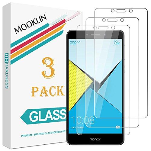 [3 Stück] MOOKLIN Huawei Honor 6X Panzerglas Bildschirmschutzfolie, [Anti-Kratzen] Handy Schutzfolie für Huawei Honor 6X