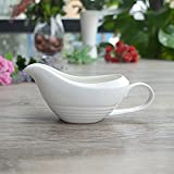 Rentzu En Céramique, Vaisselle En Céramique Western-Style Food, Jus De Viande,Plaque,Blanc 200Ml