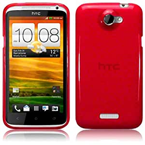 HTC One X TPU Gel Skin Case / Cover - Red Part Of The Qubits Accessories Range